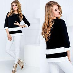 Bluza de dama neagra casual-eleganta #bluzedama #casual #elegante #bluza #fashionromania Black Friday, White Jeans, Casual, Pants, Fashion, Trouser Pants, Moda, Fashion Styles, Women's Pants