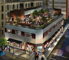 Minneapolis, Minnesota and proposed rooftop restaurant.            The owner of Crave and Figlio restaurants said Wednesday it will convert the former Shinder's building in downtown Minneapolis into an eatery that features a four-season rooftop that can be enclosed by an all-glass retractable roof.