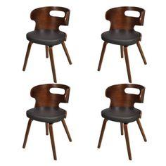4 stühle stuhlgruppe hochlehner esszimmerstühle essgruppe, Esszimmer dekoo
