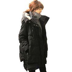 Bestor Fashion Womens Hooded Duck Down Jacket Parka Loose Fit Winter Military Down Coat (M, Black) Bestor http://www.amazon.co.uk/dp/B00OQFU1EU/ref=cm_sw_r_pi_dp_rdjovb0KZYH28