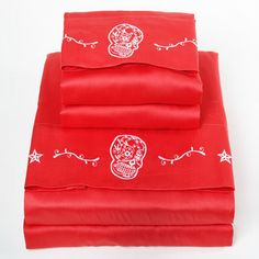 Sugar  Skulls Sheet Set Twin, $55, now featured on Fab.