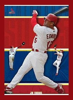 Jim Edmonds. Jim Edmonds, St Louis Cardinals, Mlb, Basketball Court, Baseball Cards, Sports, Hs Sports, Sport