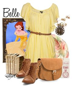 """Belle - Spring - Disney's Beauty and the Beast"" by rubytyra ❤ liked on Polyvore featuring Yuh Okano, Decorative Leather Books, Ladakh, MANGO, women's clothing, women, female, woman, misses and juniors"