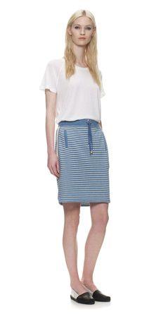 Milly Stripe Sweat Skirt