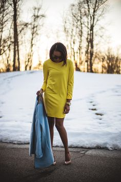 Late Winter Sunsets | Live Love and Read | yellow dress outfit