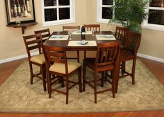 Genial American Heritage Billiards   Este Counter Height Dining Table 7 Piece Set  (includes 6 Chairs