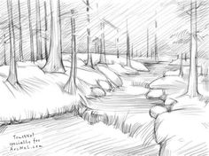 How to draw a river step 5