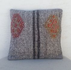 BOHEMIAN Style Embroidered Turkish Kilim Pillow by pillowsstore, $36.00