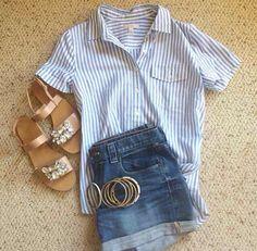 #staple #studs #sandals #pinstripes