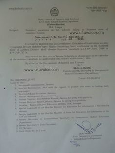 #JAMMU | Summer vacations annouced Duration of the vacations is 42 days Read here - http://u4uvoice.com/?p=226757