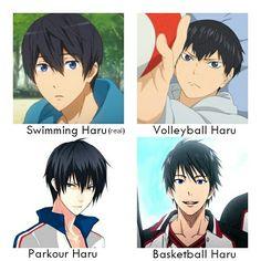 #sportsanime #coolguys #harukananase #kageyamatobio #takerufujiwara #izukishun