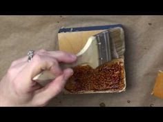 Wax on Wednesdays Encaustic Painting Achieving A Caramel Collage With Glue Burn - YouTube