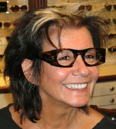 "Maria fell for this THEO frame immediatley.  That's what we call 'Love at 1st sight"". www.1010optics.com"