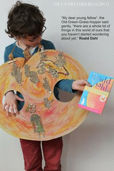 """Roald Dahl's: """"James and the Giant Peach"""" - World Book Day - DIY / homemade costume - for older kids to make themselves"""