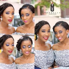 Lovely bridesmaids ! Makeup by @marbellaz_ub ! #NigerianWedding #NWbms