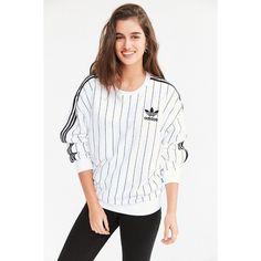 adidas Originals SOS Tennis Pullover Sweatshirt ($55) ❤ liked on Polyvore featuring tops, hoodies, sweatshirts, adidas tops, white pullover, adidas pullover, oversized sweatshirt and slouchy sweatshirt