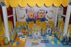 Minions Birthday Party!   See more party ideas at CatchMyParty.com!  #partyideas #minion