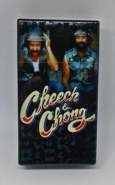 Cheech & Chong Style #6 Press-N-Flip Heavy Plastic 100s Size Cigarette Case