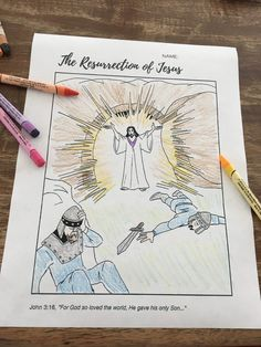 Free Easter Coloring Page - Super Church The Resurrection of Jesus Sunday School Activities, Church Activities, Bible Activities, Sunday School Lessons, Free Easter Coloring Pages, Easter Colouring, Easter Devotions, Jesus Teachings, Volunteer Gifts