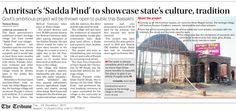 Amritsar Sadda Pind to showcase state culture tradition. #Shiromaniakalidal #Punajbgovt. #Amritsar #SaddaPind
