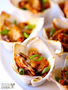 Chicken Enchilada Cups from Gimme Some Oven ~ Perfect appetizer!