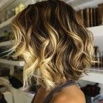 Medium Angled Bob Hairstyles with Waves