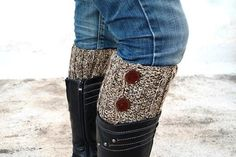 Brown Beige Boot Toppers