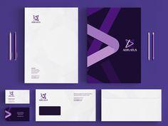 Adflatus identity / stationery design by Utopia Branding