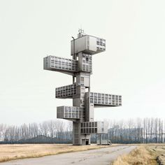 Impossible architecture by Filip Dujardin - creative shapes, photo-manipulation, fantasy design