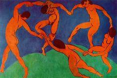 H. Matisse, La danza, 1910, óleo sobre lienzo.