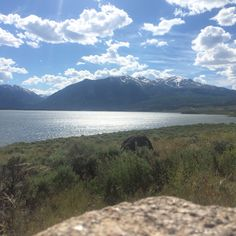 Mt. Elbert, the highest peak in Colorado, and Twin Lakes