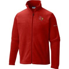 Columbia Sportswear Men's University of Louisville Flanker Full Zip Fleece (Red, Size Large) - NCAA Licensed Product, NCAA Men's Fleece/Jackets at ...