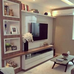 Tv Rack Design, Home Theater, Rak Tv, Living Room Decor, Tv Cabinets,  Decoration, Home Decor Furniture, Entertainment Center, Backdrop Tv, Buen  Dia, ...