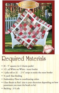 """""""Holiday Charm"""" quilt pattern designed by Shabby Fabrics"""