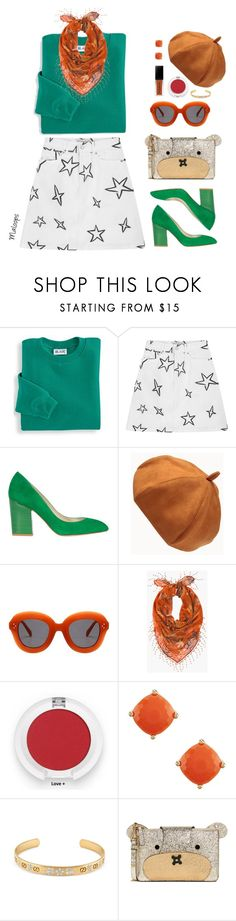"""~I got that sunshine in my pocket, got that good soul in my feet~"" by maloops ❤ liked on Polyvore featuring Blair, Être Cécile, Karen Millen, Chico's, Gucci, Anya Hindmarch, GREEN, quirky, funstyle and statementbags"