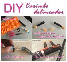 DIY: Como fazer Carimbo Delineador! Pincel para make up para fazer olho gatinho em segundos!
