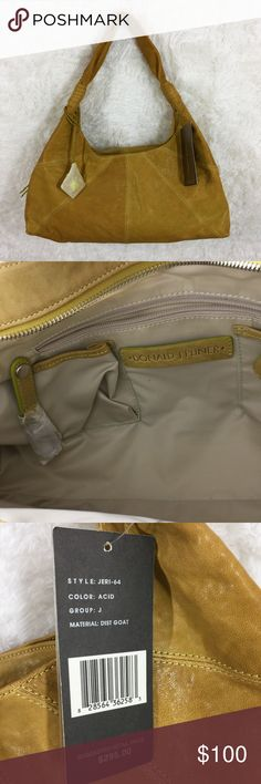 """NWT Donald J Pliner Patchwork Goatskin Bag $295 Hi Guys! i'm selling this Gorgeous Donald J Pliner Bag! It's in NWT Condition but does have a few small flaws. there's 2 small marks shown in pic 4. there's very light corner wear and there's some light discoloration on the inside lining. Measurements: it has 3 different sections with pockets so it's great for organizing. the tag says the material is dist goat.drop is 11"""". Height about 9"""". Width 15"""". Donald J. Pliner Bags"""