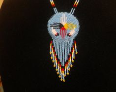 native american necklace first nation necklace by deancouchie
