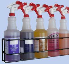 Wall Rack - 5 Quart Spray Bottles, Model per carton for sale online Bottle Wall, Spray Can, Wall Racks, Spray Bottle, Pet Care, Hold On, Cleaning, Bottles, Dog Kennels