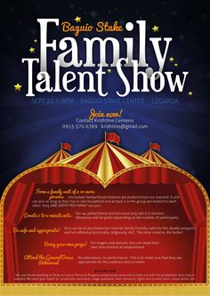 Family Talent Show poster, Adobe InDesign and Adobe Photoshop (2012)