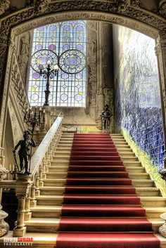 Palacio do Bussaco, Coimbra, Portugal Beautiful Architecture, Beautiful Buildings, Interior Architecture, Beautiful Places, Beautiful Life, Take The Stairs, Palace Hotel, Stairway To Heaven, Stairways