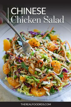 Finally, a healthy, meal prep-friendly Chinese Chicken Salad that& made to impress. Best Salad Recipes, Chicken Salad Recipes, Real Food Recipes, Asian Recipes, Cooking Recipes, Healthy Recipes, Salad Chicken, Oriental Chicken Salads, Chinese Chicken Salads