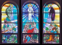 The Transfiguration, Holy Name of Jesus Monastery. Stained Glass Church, Stained Glass Windows, Mosaic Art, Mosaics, Caroline Myss, The Transfiguration, Church Windows, Stained Glass Designs, Spiritual Inspiration