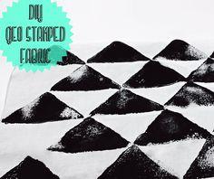 le idee della Vale: Stampa geometrica su tessuto fatta a mano: il tutorial