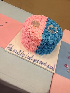 Prince or Princess Gender Reveal Party.. Cake made by Cake Envy (New Orleans)
