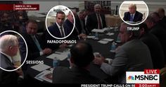 "Check-out ""low-level volunteer"" George Popadopolous in a meeting with Drumpf-the-Liar."