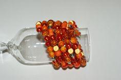 FREE EARRINGS Spiral bracelet  Orange par LesBijouxLibellule