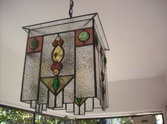 Stained glass. Lantern