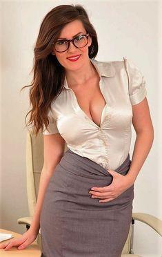 Blouse   Blind Seagull   Flickr White Satin Blouse, Satin Blouses, Silk Satin, Gorgeous Women, Amazing Women, Beautiful, Slit Skirt, Sexy Outfits, Blouses For Women