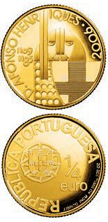 0.25 euro: D. Afonso Henriques.Country:Portugal Mintage year: 2006 Face value: 0.25 euro Diameter: 14.00 mm Weight: 1.50 g Alloy: Gold Quality: BU Mintage: 30,000 pc BU